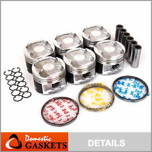 Pistons and Rings fit 93-97 Lexus ES300 Toyota Supra Non-Turbo 3.0L 2JZGE