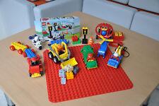 Lego Duplo Set mit Grundplatte, Radlader und Motorrad 5679