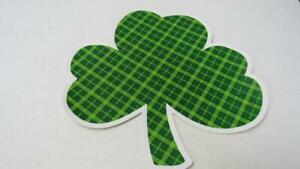 St. Patrick's Day Shamrock Shaped Plaid Placemat Shades of Green NEW
