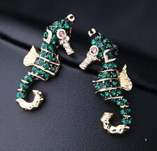 cool!New Fashion Betsey Johnson Beautiful Seahorse rhinestone earrings N438