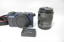 Canon Eos M2   EF-M18-55mm F3.5-5.6 IS STM lens-Blue