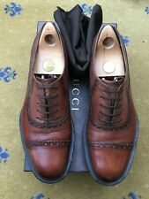 Gucci Mens Shoes Brown Leather Lace Up UK 9 US 10 EU 43 Platform