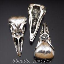 14 Stück Antike Silber Legierung Vogel Kopf Schädel Charme Anhänger Kunst 50325