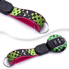 Vivid Green Remote Key Fob Case Keychain For Mini Cooper ONE S JCW F54 F55, etc