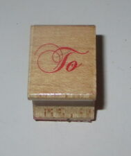 To Rubber Stamp Gift Tag All Night Media Wood Mounted Christmas Birthday