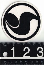 DVS SHOE CO STICKER DVS Shoe Co Stickers Skate Snowboard 3 in Round Black Decal