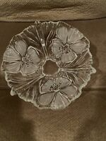 Mikasa 24% Lead Crystal Bowl Frosted Hibiscus