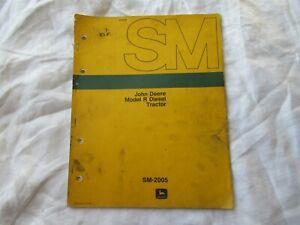 John Deere model R tractor service manual
