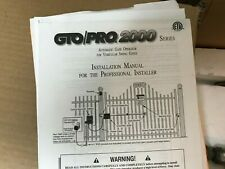 GTO/PRO2000 gate opener