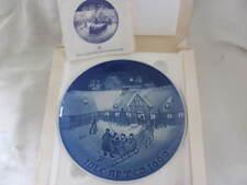 Bing & Grondahl Denmark Jule Aften Christmas Plate - 1969 - Boxed W/Coa
