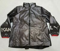 Puma x Karl Lagerfeld Women's Outerwear Mesh Black Jacket NWT Size M MSRP $260