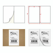 1 - 1000 Shipping Labels 8.5x5.5 ebay paypal labels Self Adhesive 2 Per Sheet