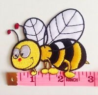 BUMBLE BEE :)Spring, Insect, Quality Iron On Patch Applique *** FREE SHIPPING !!