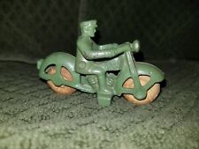 1930s Cast Iron Hubley Police Motorcycle Toy Manufactured By Hubley Mfg Co #1