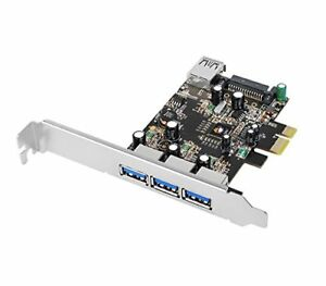 SIIG SIIG Superspeed DP 4 Ports PCIe to USB 3.0 Adapter Card w/ SATA Power VL805