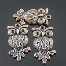 32074 Antiqued Copper Color Vintage Alloy Owl Plume Branch Pendant Charms 30PCS