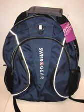 NWOT- Swiss Gear Backpack w/ Laptop Carrier - Blue, Navy, Black