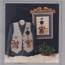 "Bear Rabbit and Company Pattern #209 ""GARDEN GATE APPLIQUE"" Wall Hanging or Vest"