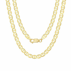 """14K Yellow Gold Solid 6mm Gucci Mariner Anchor Chain Pendant Necklace 18""""- 26"""""""