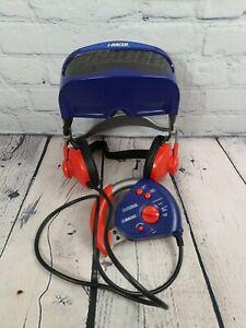 I-Racer Radica virtual vision racing headset game steering wheel.