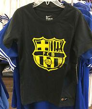 2016-17 Team FC Bcarlona Soccer T Shirt Youth Short Sleeves Small La Liga League