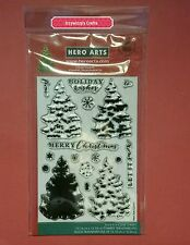 Hero Arts Photopolymer clear PINE TREE holiday Christmas layering stamp set NEW