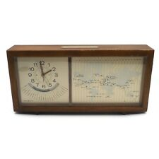 General Electric Ge Vintage Time Zone World Clock Mantel Terrestrial Model 8111