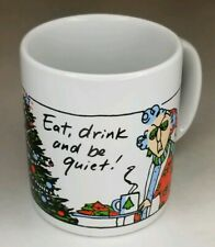 Hallmark Shoebox Greetings Maxine Cup Mug with Eat Drink and Be Quiet Christmas