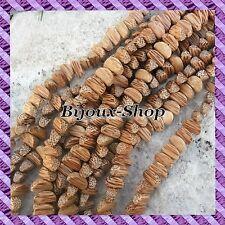 1 Draht von 50 perlen Kern- Palme nuss Areka- - Braun - Quartier 16mm