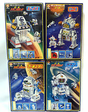 ROBOTS : MR-1, MR-2, MR-3 & MR-4 BOXED PLASTIC MODEL KITS MADE BY AOSHIMA