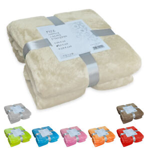 Fleece Blanket Solid Color Batteries 3 Measures Softest Soft Hot Bed Sofa