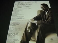 Sean Puffy Combs History In The Making with Bad Boy 1997 Promo Poster Ad mint