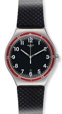 Swatch RED WHEEL Rubber Mens Watch YWS417