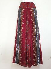 Ladies Wide Leg Pants Palazzo Lagenlook Bohemian Hippie Trousers Wrap WPPD-BU