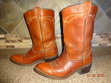 Womens ACME #9535 Sz 5.5B Brown Leather Cowboy Boots