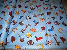 "Babyville Boutique COWBOY Pul Waterproof Fabric –- BTY  64"" W X 36"" L (1 yd)"
