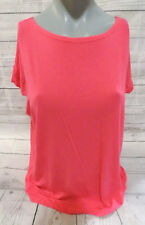 Piko Girl Authentic Youth Kids Coral Pink Bamboo Spandex Top Shirt -L-