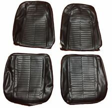 1967  1968 Pontiac Firebird Seat Covers Front Bucket Seats Upholstery Black
