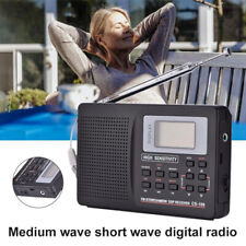 Portable Digital World Full Band Radio Receiver AM/FM/SW/MW Radio Alarm Clock