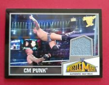 CM PUNK 2013 TOPPS BEST OF WW WRESTLEMANIA AUTHENTIC MAT RELIC WWE CARD