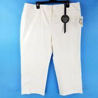 Charter Club Womens Cropped Dress Pants White size 14W 16W 18W 20W 22W 24W NWD
