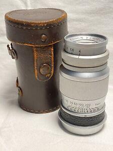 Ex Late Leica Leitz 9cm f4 Elmar Screwmount LTM M39 Vintage 90 Elmarit Summicron