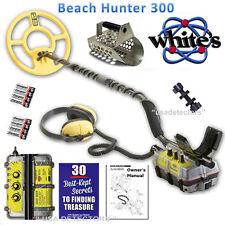 NEW Whites Beach Hunter 300 WATERPROOF Metal Detector With FREE SCOOP & GUIDE !