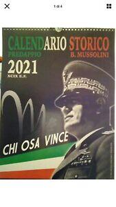 NUOVO CALENDARIO STORICO MUSSOLINI 2021 IMMAGINI E COMMENTI STORICI