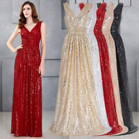 New Long Bridesmaid Formal Gown Ball Cocktail Evening Prom Ladies Party Dress