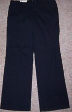 GAP Black Striped Stretch Khaki Cropped Ankle Pants Size 12A or 12 Ankle NWT