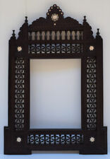 Handmade Brown Wood Wall Hanging Decorative Mirror Frame , Moroccan Home Decor
