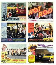 HOT ROD FILMS SET OF 6 FLEXIBLE THIN FRIDGE MAGNETS BIRTHDAY DAD GRANDAD FATHER