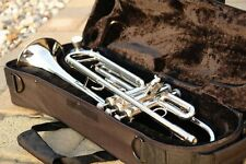 Used Bb B Flat SILVER NICKEL Trumpet & YAMAHA Care Kit ♫♫ SHIPS From WEST COAST!