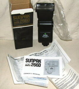 Sunpak Auto 266D Flash for Minolta/Ricoh TTL New Old Stock #Nacy Shoe Mount
